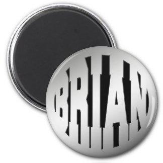 BRIAN - TEXTO DE PLATA IMAN DE FRIGORÍFICO