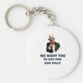 brian wants you basic round button keychain