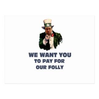 brian wants you postcard