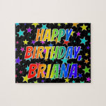 "[ Thumbnail: ""Briana"" First Name, Fun ""Happy Birthday"" Jigsaw Puzzle ]"