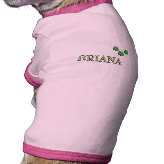 Briana Irish Name Dog T-shirt