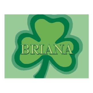 Briana Irish Name Post Cards