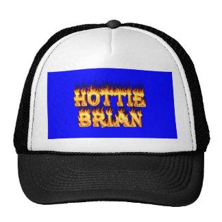 brianHottie Brian fire and flames Trucker Hat