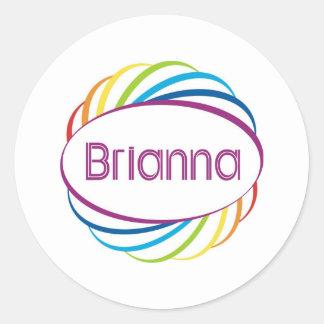 Brianna Classic Round Sticker