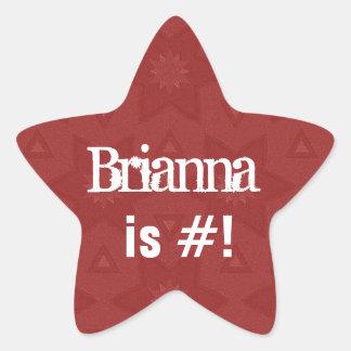 BRIANNA  - Custom Name Red Star G503 Star Sticker