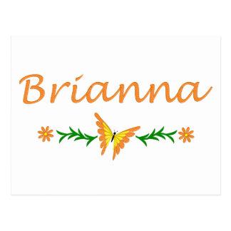 Brianna (Orange Butterfly) Postcard