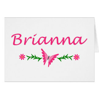 Brianna (Pink Butterfly) Card
