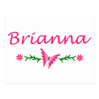 Brianna (Pink Butterfly) Postcard
