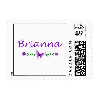 Brianna (Purple Butterfly) Postage