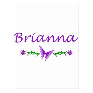 Brianna (Purple Butterfly) Postcard