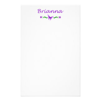 Brianna (Purple Butterfly) Stationery