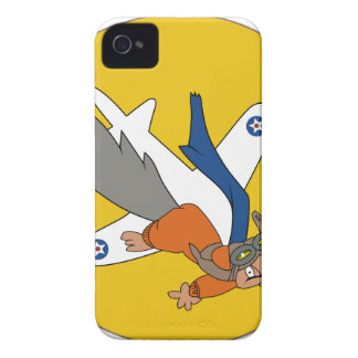 Brians WWII Patch Flying Squirrel in Pilot Gear iPhone 4 Covers
