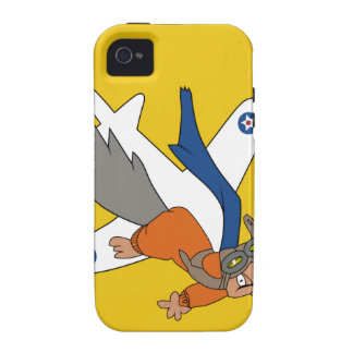 Brians WWII Patch Flying Squirrel in Pilot Gear Vibe iPhone 4 Cover