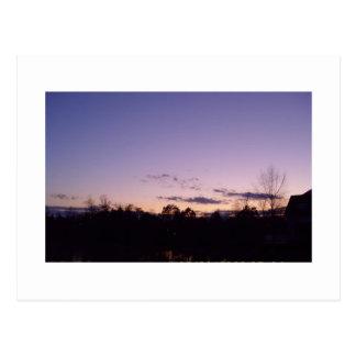 Briar Creek Sunset Raleigh North Carolina Postcard