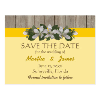 Briar Patch/Freesia Yellow Country Wedding Postcard