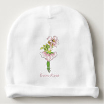 Briar Rose Vintage Cute Flower Child Baby Girl Baby Beanie
