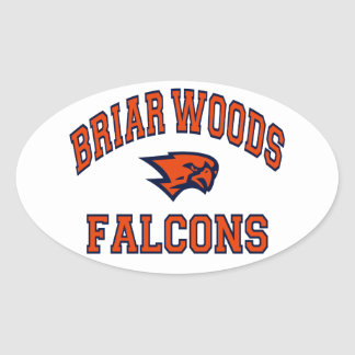 Briar Woods Falcons Oval Sticker