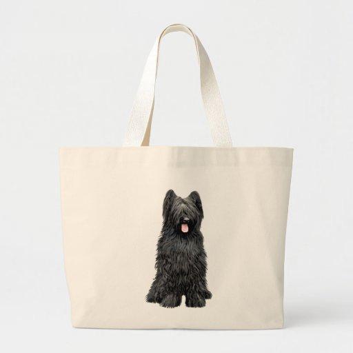 Briard (a) - negro bolsas
