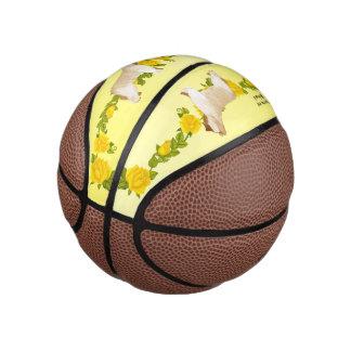 Briard and Yellow Roses (mini) Basketball
