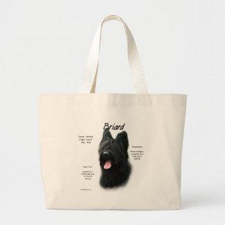 Briard (black) History Design Canvas Bags