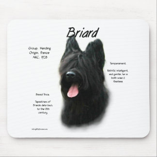 Briard (black) History Design Mouse Pads