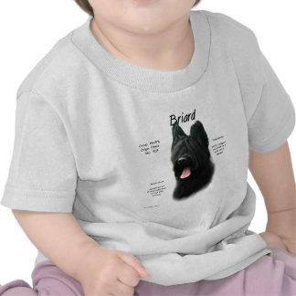 Briard (black) History Design Shirt