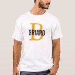 Briard Breed Monogram Design T-Shirt