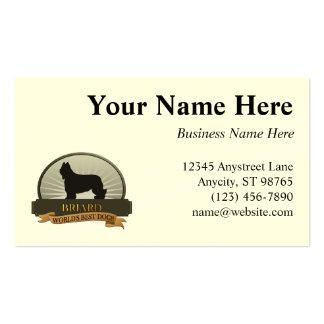 Briard Business Card
