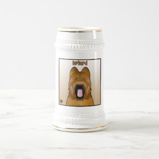 Briard Cartoon Beer Stein