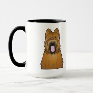 Briard Cartoon Mug