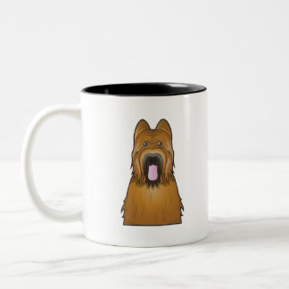 Briard Cartoon Two-Tone Coffee Mug