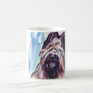 Briard Dog fun bright pop art Classic White Coffee Mug