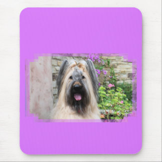 "Briard Dog in a Tiara ""Queen Bee"" Mouse Pad"