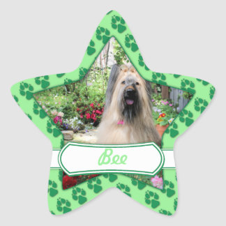 Briard Dog in Flower Garden Sticker