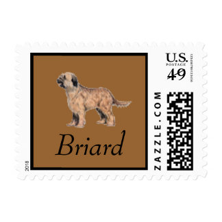 Briard Dog Postage Stamp for letters