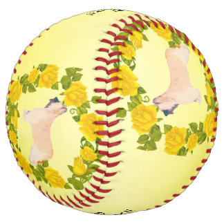 Briard Dogs Rock!! and Yellow Roses Softball