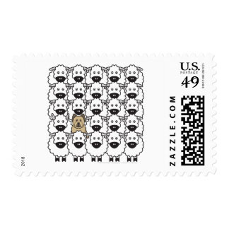 Briard in the Sheep Postage
