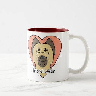 Briard Lover Two-Tone Coffee Mug