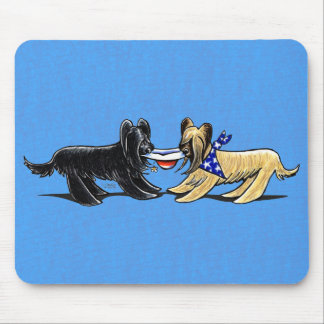 Briard Mad Hatters Off-Leash Art™ Mouse Pad