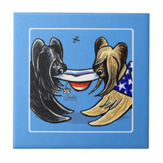 Briard Mad Hatters Off-Leash Art™ Tile