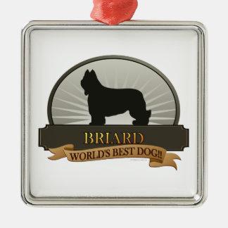 Briard Metal Ornament