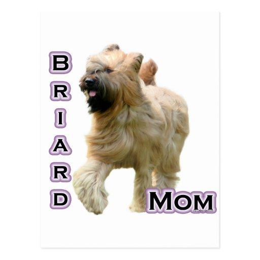 Briard Mom 4 Postcard