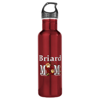 Briard Mom Stainless Steel Water Bottle