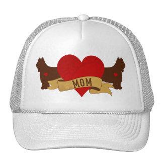 Briard Mom [Tattoo Style] Trucker Hat