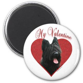 Briard My Valentine - Magnet