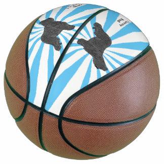 Briard on White Starburst Basketball