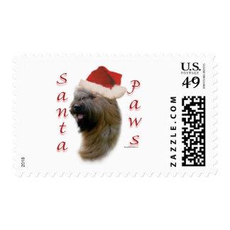 Briard Santa Paws Postage Stamps