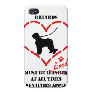 Briards Must be Loved iPhone 4 Case