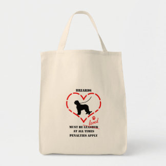 Briards Must Be Loved Tote Bag