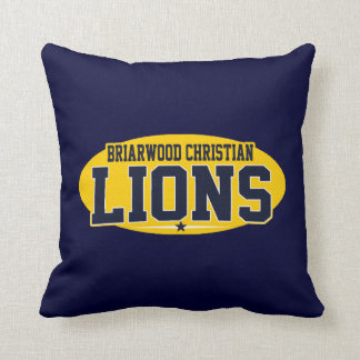 Briarwood Christian; Lions Throw Pillow